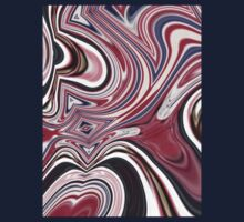 abstract UK fashion red white blue marble swirls by lfang77