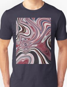 abstract UK fashion red white blue marble swirls T-Shirt