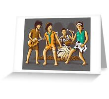 The Rolling Flintstones Greeting Card