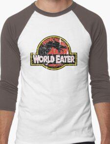 World-Eater Beware! Men's Baseball ¾ T-Shirt