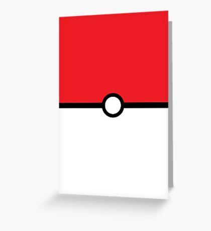 Pokémon Ball Greeting Card