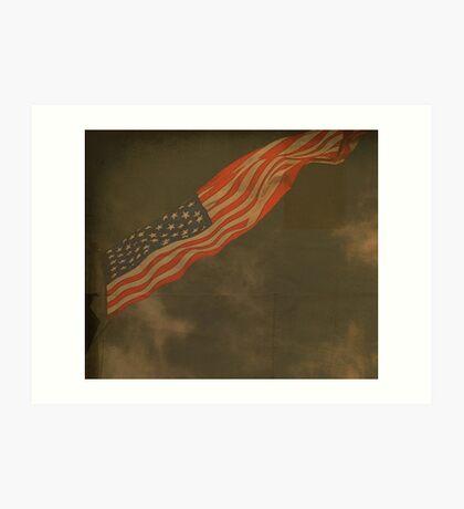 Antique American Flag Art Print