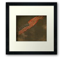 Antique American Flag Framed Print