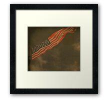 Antique American Flag Framed Print
