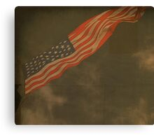 Antique American Flag Canvas Print