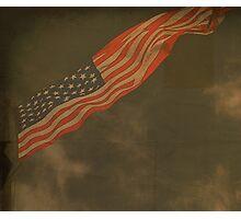 Antique American Flag Photographic Print