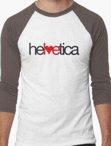 Love Helvetica Men's Baseball ¾ T-Shirt