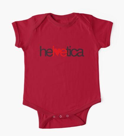 Love Helvetica One Piece - Short Sleeve