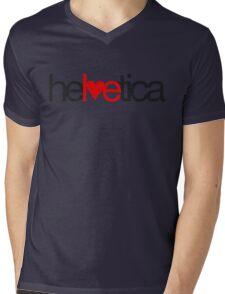 Love Helvetica Mens V-Neck T-Shirt