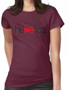 Love Helvetica Womens Fitted T-Shirt