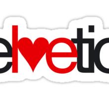 Love Helvetica Sticker