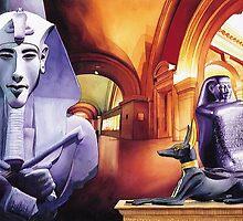 """The Halls of Ahkenaten"" Watercolor by Paul Jackson"