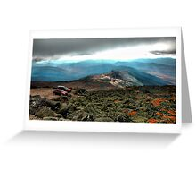 Clouds & Cars Greeting Card