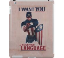 Age Of Ultron - Watch Your Language! iPad Case/Skin