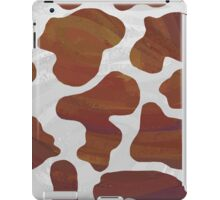 Cow Brown and White Print iPad Case/Skin