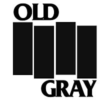 old gray/black flag t-shirt emo Photographic Print
