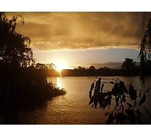 Sunrise at Mannum. Photographic Print