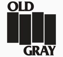 old gray/black flag t-shirt emo by fandemonium