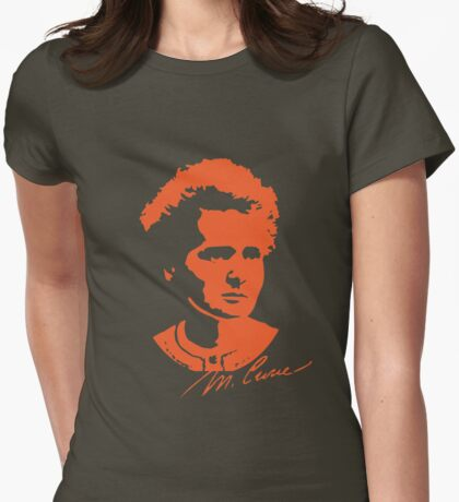 Marie Curie Womens Fitted T-Shirt