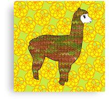 Knitty alpaca Canvas Print