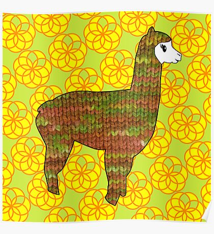 Knitty alpaca Poster
