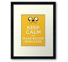 Make Bacon Pancakes Sticker Framed Print