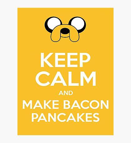 Make Bacon Pancakes Sticker Photographic Print