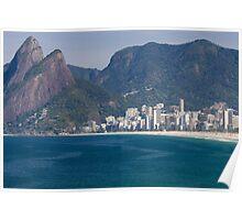 Ipanema Beach, Rio De Janeiro, Brasil Poster