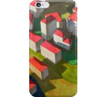 virtual model with red houses iPhone Case/Skin