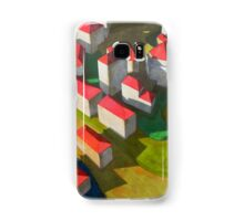 virtual model with red houses Samsung Galaxy Case/Skin