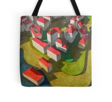 virtual model with red houses Tote Bag