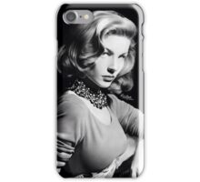 Lauren Bacall Tribute, Graphite, 16½ x 14¼ Windsor & Newton Bristol board iPhone Case/Skin