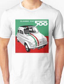 Classic Fiat 500 Italian flag T-Shirt