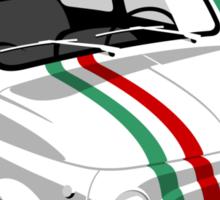 Classic Fiat 500 Italian flag Sticker