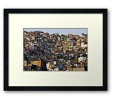 Rocinha Favela, Rio De Janeiro, Brasil Framed Print