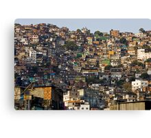 Rocinha Favela, Rio De Janeiro, Brasil Canvas Print