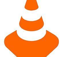 Traffic cone safety pylon Whitch hat marker by SofiaYoushi