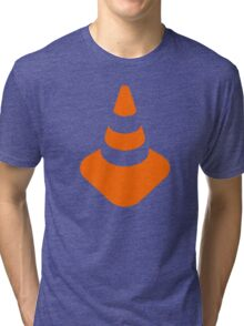 Traffic cone safety pylon Whitch hat marker Tri-blend T-Shirt