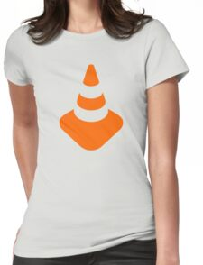 Traffic cone safety pylon Whitch hat marker Womens Fitted T-Shirt