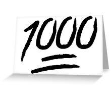 1000 Greeting Card