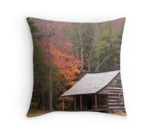 Cades Cove Cabin Version2 Throw Pillow