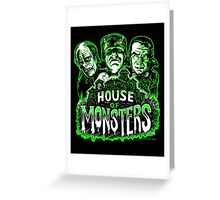 House of Monsters Greeting Card