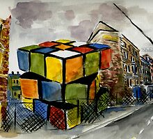 Rubix Cube in a Vacant Lot by ArleniSanchez