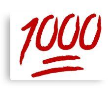1000 Canvas Print