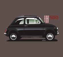 Classic Fiat 500F black T-Shirt