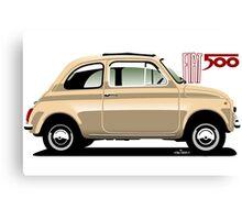 Classic Fiat 500F beige Canvas Print