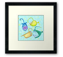 Monsters of the Deep Framed Print