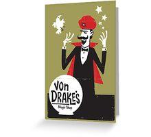 Von Drakes Magic Shop Greeting Card