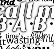 EXO CALL ME BABY MERCH Sticker