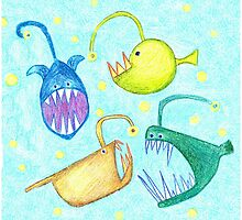 Monsters of the Deep by sarahrozdilski